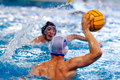 Water polo players Stock Image