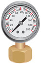 Water pressure gauge measuring instrument of in the pipeline vector illustration Royalty Free Stock Images