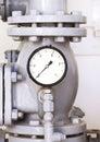 Water pressure gauge vintage grey Stock Images