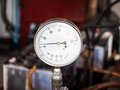 Water pressure meter Royalty Free Stock Photo