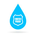 Water proof drop icon
