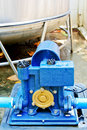 Water pump blue electric high pressure Stock Images
