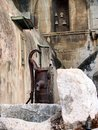 Water Pump and Church Bells, Old Orthodox Monastery, Israel Royalty Free Stock Photo