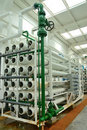 Water purification factory Stock Image