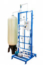 Water purification and ozonation equipment with control panel isolated on white with clipping path Royalty Free Stock Photo