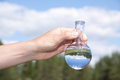 Water purity test liquid in laboratory glassware Royalty Free Stock Photography