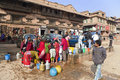 Water Rationing Scene, Bhaktapur, Nepal Royalty Free Stock Photo