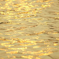 Water reflection at sunset yellow background Royalty Free Stock Photography