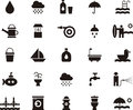 Water related flat glyph web icons Royalty Free Stock Photo