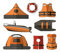 Water rescue set Royalty Free Stock Photo