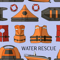 Water rescue set pattern Royalty Free Stock Photo