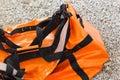 Water resistant bag big orange Stock Image