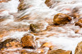 Water Rushing over River Rocks Royalty Free Stock Photo