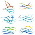 Water Sea Logo Royalty Free Stock Photo