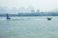Water ski competition,Liuzhou,2013 Royalty Free Stock Photo