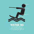 Water Ski Sport Sign Royalty Free Stock Photo