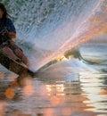 Water Skier Wake Royalty Free Stock Photo