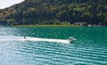 Water skiing worthersee austria on lake worth Stock Photography