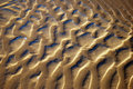 Water-smoothed sand pattern Royalty Free Stock Photos