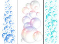 Water and soap bubbles Stock Photography