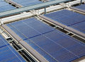 Water solar panels on roof Royalty Free Stock Photo