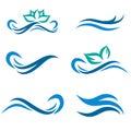 Water and Spa Logo Set
