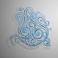 Water splash decorative shape made of swirls Royalty Free Stock Photo