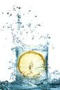 Water splash in glass Royalty Free Stock Photo