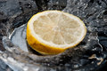 Water splash lemon slice Royalty Free Stock Photography