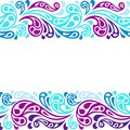 Water splash seamless waves abstract pattern Royalty Free Stock Photo