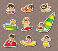 Water sport stickers Stock Photo