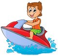 Water sport theme image eps vector illustration Royalty Free Stock Photos