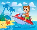 Water sport theme image eps vector illustration Stock Photos