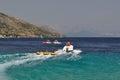 Water sport, tubing Royalty Free Stock Photo