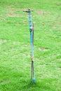 Water sprinkle pole in garden sprikle Stock Photo