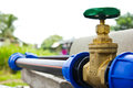 Water supply valve Royalty Free Stock Photo
