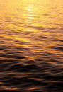 Water surface in the light of  setting sun Stock Photos