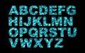 Water Swimming Pool Font Type Alphabet Royalty Free Stock Photo