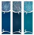 Water Swirls Banner Royalty Free Stock Photography