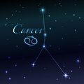 Water symbol of Cancer zodiac sign, horoscope, vector art and illustration. Royalty Free Stock Photo