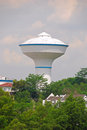 Water tank in residential areas with trees Royalty Free Stock Photography