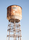 Water tank tower against blue sky Royalty Free Stock Photo