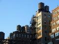 Water tanks, Manhattan, New York Royalty Free Stock Images