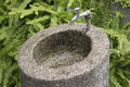 Water tap in garden Royalty Free Stock Photo