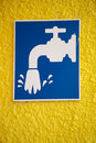 Water Tap Sign Royalty Free Stock Photography