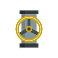 Water tap steel wet silver part of machinery flat icon work gear mechanical equipment vector. Royalty Free Stock Photo