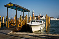 Water Taxi Stand, Venice Royalty Free Stock Photo