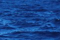 Water texture deep blue ocean surface with waves Royalty Free Stock Photo