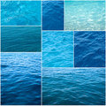 Water textures collage Royalty Free Stock Photography