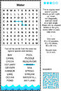 Water themed wordsearch puzzle zigzag word search suitable both for kids and adults answer included Stock Photos